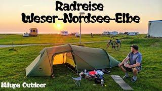 """Radreise """"Weser-Nordsee-Elbe"""" // 300km / Test """"Teasi"""" und neues Zelt"""