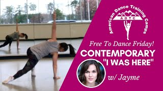 """Contemporary Dance Tutorial (Adv/Beg): """"I Was Here"""" By Beyonce"""
