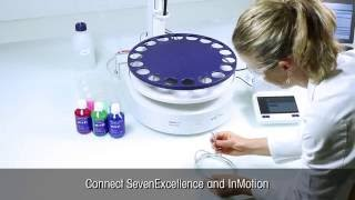 Conecte o InMotion ao SevenExcellence para calibração e medição automatizadas de pH