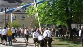 preview picture of video 'Maibaumaufstellen in Neubiberg 2003 - Bavarian Maypole 2003'