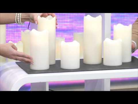 Lunartec LED-Teelichter mit Luftzugsensor, 4er-Set