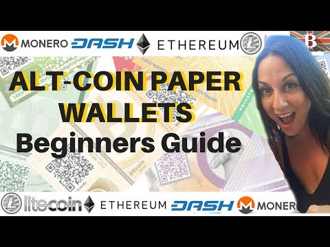 AltCoin Paper Wallet Tutorial: How to Create A Paper Wallet