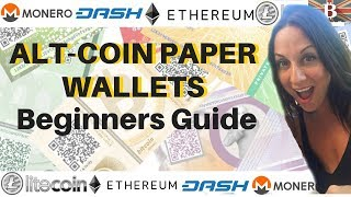 AltCoin Paper Wallet Beginners Guide: How to Create Wallets For Ethereum Dash Litecoin Monero etc