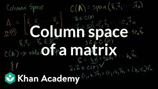 Column Space of a Matrix