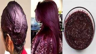 Natural Burgundy Hair 100% Herbal With Simple Ingredient - How To Dye Hair Naturally