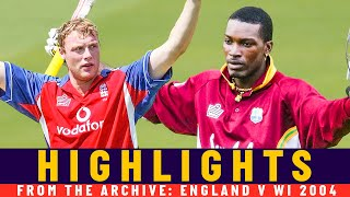 Gayle v Flintoff in ODI run-fest! | Classic Match | England v West Indies 2004 | Lord's