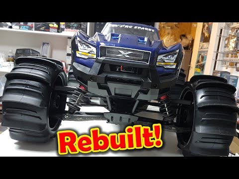 Traxxas 8s X-Maxx Re-Build with Paddle Tires this Xmaxx is like new again!!