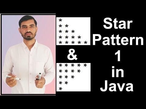 Star Pattern - 1 Program (Logic) in Java by Deepak
