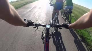 preview picture of video '112 км. Степногорск-Искра-Ивановский... Длительная вело-тренировка'