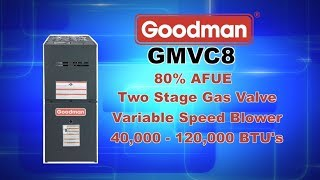 Goodman GMVC8 Series 80% AFUE Furnace