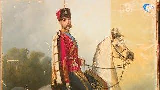 Новгородцам показали ход реставрационных работ портрета императора Александра II
