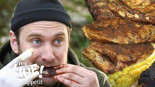 Brad Makes Campfire Ribs   It's Alive   Bon Appétit