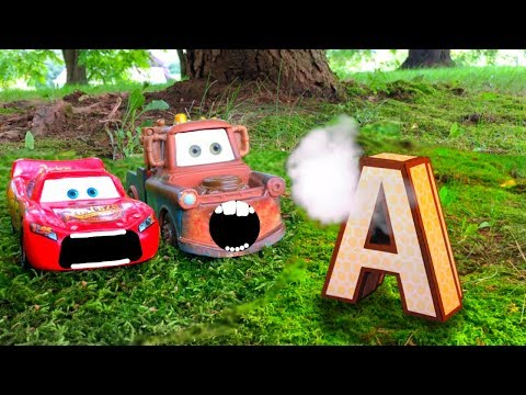 Disney Pixar Cars Lightning McQueen Tow Mater Huge Surprise AMAZING Discovery Kids Learn A Word Toys
