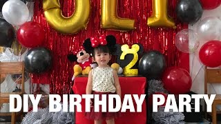 DIY Mickey Mouse Themed Birthday Party In Olivias School | Andi Manzano