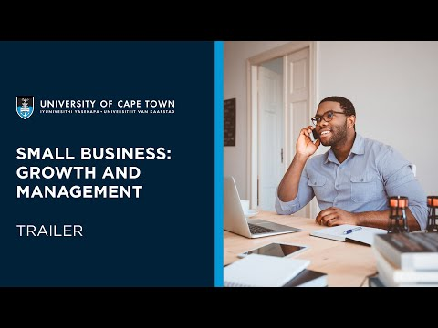 UCT Small Business: Growth and Management | Course Trailer ...