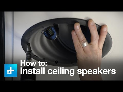 How to install in-ceiling speakers with the Golden ear Invisa HTR 7000
