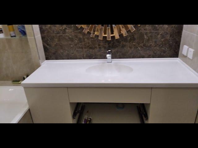 Столешница из акрилового камня в ванну DuPont Corian White Jasmine