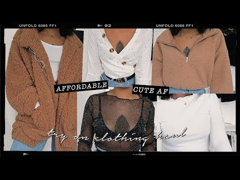 affordable & cute af try on clothing haul | zaful.