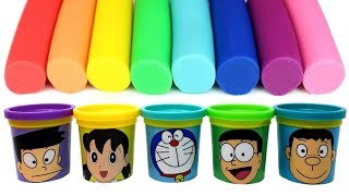 Doraemon(ドラえもん) Play Doh Molds & Can Heads Nobita Suneo Shizuka Takeshi Doraemon - Surprise Toys