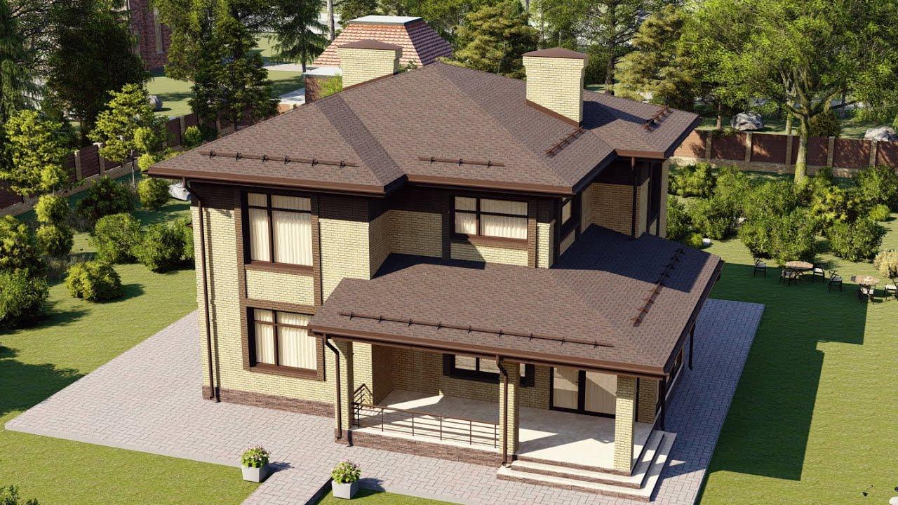2-х этажный дом из пеноблоков с удобной планировкой 172 м2