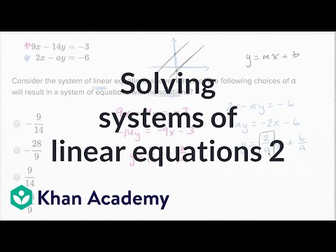Solving systems of linear equations — Harder example