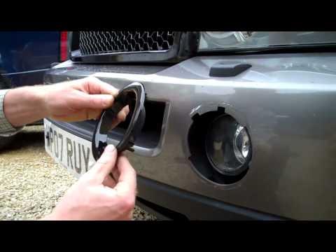 Front LH RH Primed Fog Light Surround Bezel for Range Rover Sport 05-09 Bearmach