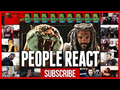 KING EZEKIEL and his TIGER - The Walking Dead Season 7 Reactions