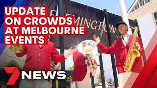 Update on crowds at Melbourne's summer events | 7NEWS