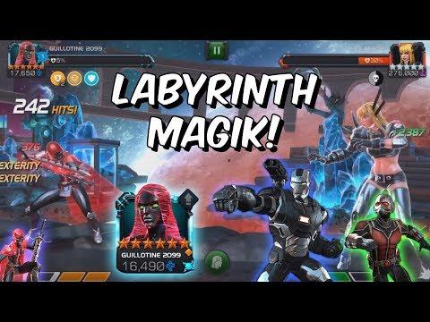 6 Star Guillotine 2099 VS Labyrinth of Legends Magik &amp War Machine - Marvel Contest of Champions