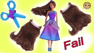 Hair Extension Fail ! Long Hair Princess Barbie Toy Play Video