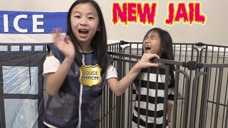 Pretend Play Police LOCKED UP Kaycee in NEW Jail Playhouse
