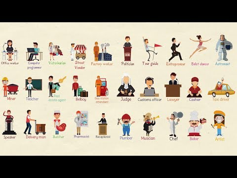 List of Professions: Useful Jobs Vocabulary and Job Names in English with Pictures