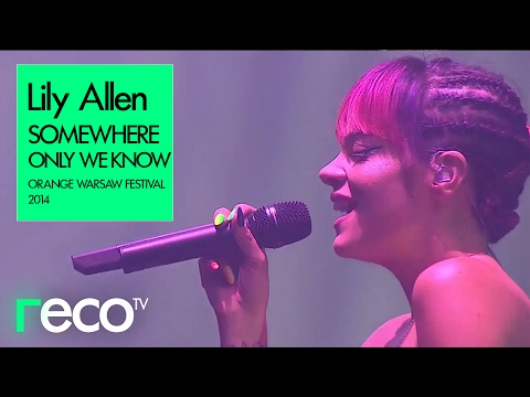 Lily Allen Somewhere Only We Know Orange Warsaw Festival 2014