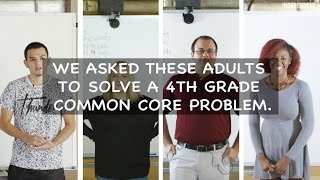 Adults Try Common Core For The First Time