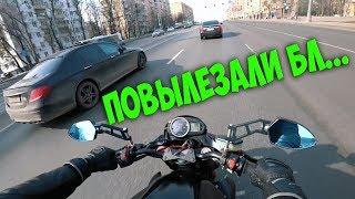Открыл МОТОСЕЗОН 2018 | Опасности на дороге