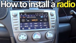 how to install a touch screen radio in a car