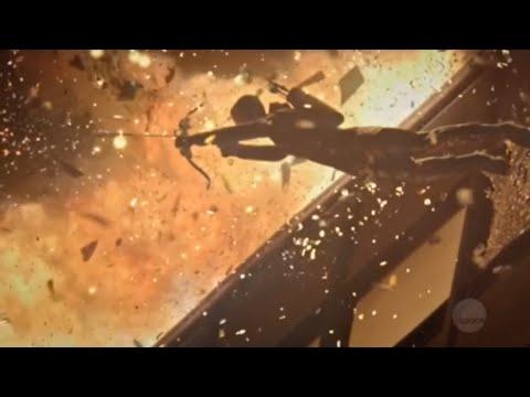 Arrow 7x22 Oliver escapes exploding building (HD)