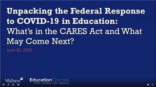 Newswise:Video Embedded unpacking-the-federal-response-to-covid-19-in-education