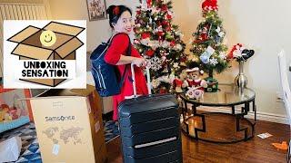 Samsonite Freeform large Spinner  and mobile solution Deluxe Backpack laptop bag -UNBOXING SENSATION