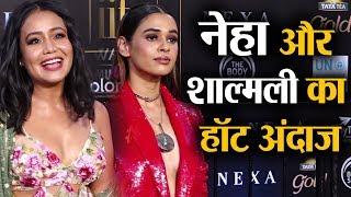 IIFA Awards: Beautiful Neha Kakkar and Shalmali Kholgade at Green carpet   Shudh Manoranjan