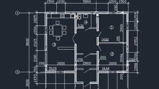 План дома в AutoCAD. Часть 1