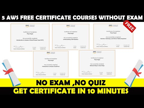 AWS Free Certificate Courses | 5 Free Amazon AWS Certifications ...