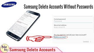 how to remove Samsung account without password    Samsung