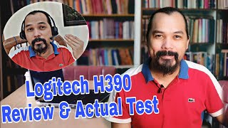 Logitech H390 Review and Actual Real Situation Test - Is the Noise Cancelling Mic Really Effective?