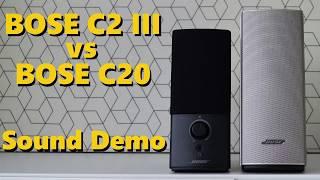 Bose Companion 2 Series III vs Bose Companion 20  ||  Sound Demo w/ Bass Test