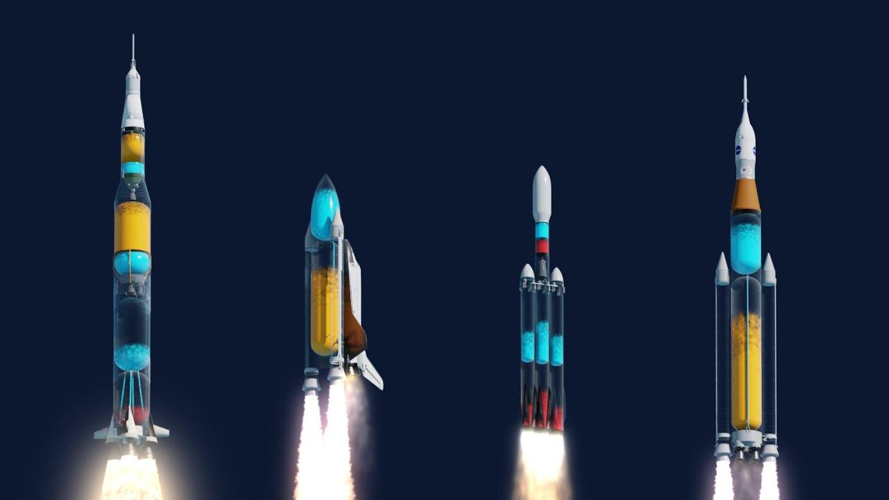 Qué se vería durante los lanzamientos si los cohetes fueran transparentes