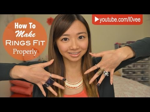 How To Make Your Rings Fit (Large Rings Small Fingers) | AskAshley
