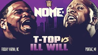 T-TOP VS ILL WILL SMACK RAP BATTLE | URLTV