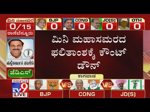 Karnataka Bypoll Results 2019 LIVE: Counting to Begin Shortly; BJP Needs 6 Seats to Stay in Power