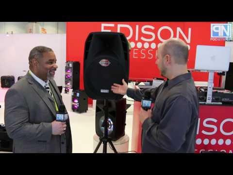 Edison Professional - M-2000 Plus Powered PA Speaker - CES 2017 - Poc Network Mp3